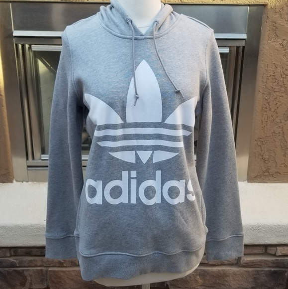 Adidas Originals Trefoil Hoodie Women/'s Oversized Street Style Casual Pullover